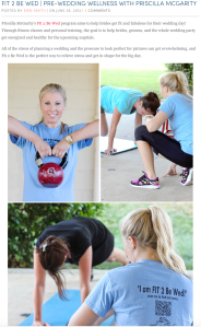 Wellness with Priscilla Fit 2 be Wed_Annapolis Personal Training